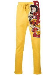 Doublet Embroidered Tracksuit Trousers Yellow Orange