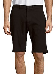 Saks Fifth Avenue Cotton Twill Banded Shorts Black