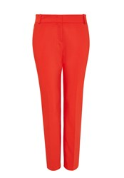Hallhuber Side Slit Trousers Red