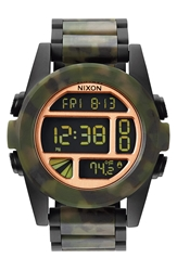 Nixon 'The Unit' Bracelet Watch 50Mm Matte Black Camo