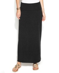 Studio M Knit Fold Over Maxi Skirt