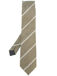 Tom Ford Double Stripe Classic Tie Green