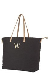 Cathy's Concepts Monogram Overnight Tote Grey Black W