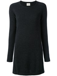 Le Kasha Bali Knitted Dress Women Cashmere L Grey