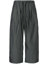 08Sircus Cropped Drawstring Trousers Grey
