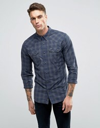 Pepe Jeans Lancaster Check Slim Fit Shirt Deep Blue Sea Navy