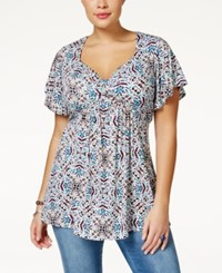 American Rag Plus Size Printed Babydoll Top Only At Macy's