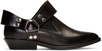 Maison Martin Margiela Mm6 Black Low Harness Boots