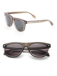 Alexander Mcqueen Ghost Skull 53Mm Rectangle Sunglasses Havana