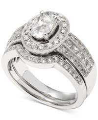 Macy's Diamond Bridal Set 1 1 3 Ct. T.W. In 14K White Gold
