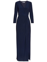 Gina Bacconi Jersey Maxi Dress Spring Navy
