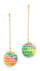 Venessa Arizaga Catch The Rainbow Earrings Pink Multi