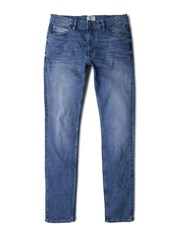Mango Tim5 Slim Fit Medium Wash Tim Jeans Blue