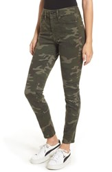 Good American Plus Size Legs High Waist Skinny Jeans Camo001