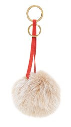 Mischa Lampert Pom Bag Charm Blush Red Gold