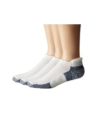 Thorlos Running Rolltop 3 Pair Pack White Navy No Show Socks Shoes