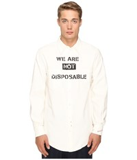Vivienne Westwood Anglomania New Long Tail Shirt Bright White
