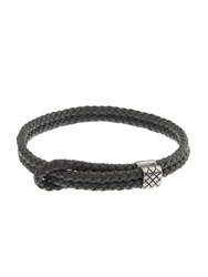 Bottega Veneta Buckle Fastening Intrecciato Leather Bracelet