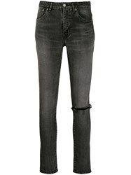 Saint Laurent Ripped Knee Skinny Jeans 60