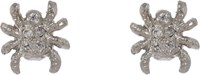 Cathy Waterman Petite Spider Studs Colorless
