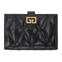 Givenchy Black Quilted Gv3 Bifold Wallet