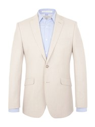 Racing Green Parker Tailored Fit Jacket Beige