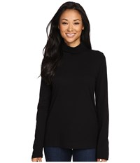 Three Dots Davida Long Sleeve Turtleneck Black Women's Clothing