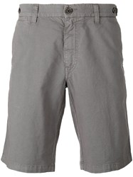 Eleventy Shorts With Button Closure Flap Pockets Grey