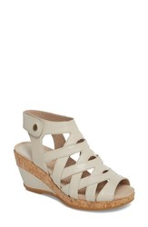 Dansko 'S Cecily Caged Wedge Sandal Ivory Leather