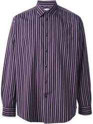Herma S Vintage Striped Shirt Pink And Purple