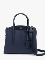 Kate Spade New York Margaux Leather Medium Satchel Blazer Blue