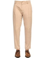 Dolce And Gabbana 17.5Cm Stretch Cotton Pants Beige
