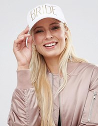 Asos Bridal Printed Baseball Cap White