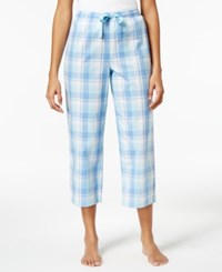 Charter Club Cotton Plaid Cropped Pajama Pants Only At Macy's Picnic Plaid