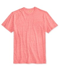 Club Room Men's Rib Knit Heathered T Shirt Only At Macy's Fire