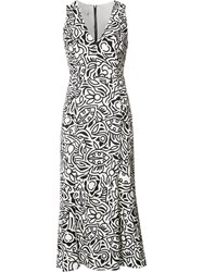 Narciso Rodriguez Floral Print Shift Dress White