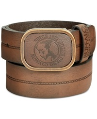 Buffalo David Bitton Plaque Buckle Belt Brown