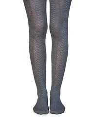Lemon Embroidered Tights Peppercorn