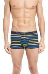 2Xist Men's 2 X Ist 3 Pack No Show Trunks Black Black Lime Green