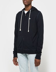 Quality Peoples Sun Logo Zip Hoodie Dark Navy