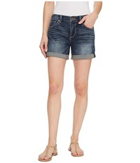 Lucky Brand The Roll Up Shorts In Timber Lakes Timber Lakes Blue