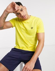 Lyle And Scott Logo T Shirt In Yellow