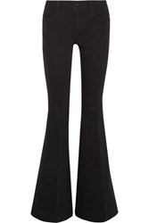 Stella Mccartney The '70S Mid Rise Flared Jeans Black