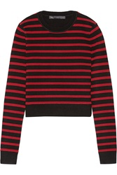 Marc By Marc Jacobs Cropped Stretch Wool Blend Top