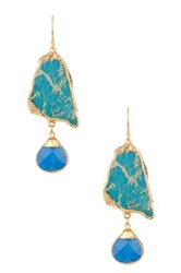 Janna Conner Saraya Blue Jasper And Cobalt Earrings No Color