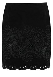Ibana White Chocolate Leather Skirt Back To Black