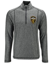 Antigua Men's Cleveland Cavaliers Tempo Half Zip Pullover Heather Charcoal