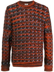 Acne Studios Tuck Knit Jumper Orange