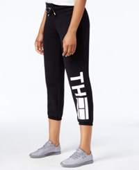 Tommy Hilfiger Logo Graphic Sweatpants Only At Macy's Black
