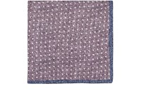 Fairfax Men's Reversible Silk Pocket Square Purple Grey Blue